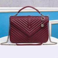 Bolsas Reais Jerseylang020 Saco de Couro de Ombro Bags Cadeia Crossbody Designer Bag Flap Quilted Handbagstore888 Mulheres DCBPU