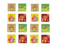 Baribo Lezzet 600 mg Mylar Çanta Gummies Baggie Toz Geçirmez Fermuar Paketi Koku Geçirmez Kitaplar Boş Paketleri Tütün Kuru Herb Çiçekler Takı için
