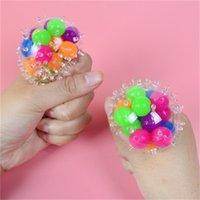 Heißer Verkauf schwammiger Regenbogenkugel Spielzeug squezable Druckspielzeug Stress Relief Ball Spielzeug für Kinder ängstliche Dekompression x0320