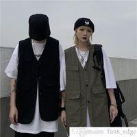 MA GE JI MA KOREAN INS INS SPARTE летние модный свободный груз без рукавов жилет внешний износ кардиган жилет пальто для мужчин и женщин