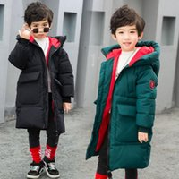 Winter Boys Cotton Jackets Outwear Baby Children Snow Wear Warm Thick D46 Coats Outerwears With Cap Coat