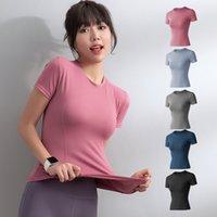 Спортивная одежда женская летняя тонкая сеть красный жесткий тонкий короткий рукав футболкости