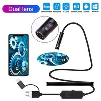 Cameras Dual Lens Camera Endoscope HD IP67 5M Hard Flexible Tube Mirco USB Type-C Borescope Video Inspection For Android Car