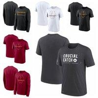 "Washington""Redskins""Men Women Youth 2021 Crucial Catch Performance Football T-Shirt Charcoal"