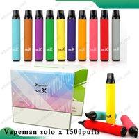 Vapeman Solo x Einweg-Zigaretten-Pod-Gerät 850mAh 1500 Puffs 4.2ml Vorgefestigt Vape Pen Stick Starter Kit vs bar plus 100% origianl