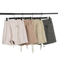 2020 19SS Pantalones cortos de hombre reflectantes Vintage Street Cintura elástica Pantalones cortos al aire libre Deporte suelto Casual T06