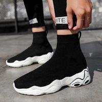 2021 Usine direct Hommes Chaussures Femmes Spring Tendance Chaussette coréenne Sneakers Bleu Noir Respirant Couple Sports et loisirs 35-45 Un
