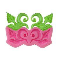 Baking Moulds Leaf Vine Chocolate Turn Sugar Silicone Mold Cake Lace Surround Decorative DIY Handicrafts Resin