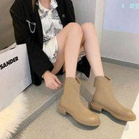 Boots Winter heels warm woman in solid leather ankle fashion platform zipper casual shoes plus size 35-40 A2S2