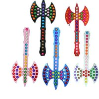 55.5CM Double Axe Axe Prop Pops Fidget Toy Giant Large Push Bubble Sensory Stress Relief Anti Anxiety Christmas Gift Kids Family Games Finger Puzzle Toys G95J1F1