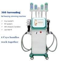 Cryo Cryo 360 gradi Cooling Fat Fat Brigerzing Machine MACCHINA Cryolipolisi Slimming Vacuum 4 Freeze Handles Lavora insieme
