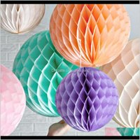 Decorative Wreaths Festive Supplies Home & Garden5Pcs Tissue Flowers Paper Pom Balls Poms Honeycomb Lantern Decor Craft Wedding Party Decors