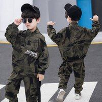 Suit per bambini Boys 2pcs Sport Uniforme militare PUBG per bambini Set di bambini Big Boy Girls Vestiti Camouflage Tuta per bambini Set di abbigliamento casual