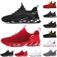 Hommes non-marques Femmes Running Chaussures Chaussures Blade Slip sur Noir Blanc Toute Red Gris Great Terracotta Warriors Mens Gym entraîneurs de sport en plein air Sneakers