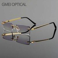 GMEI البصرية المألوف فرملس سبائك التيتانيوم نظارات العدسات عادي الماس قطع بدون لا رجعة