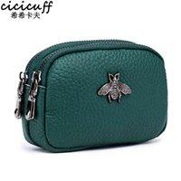 Cicicuff عملة محفظة جلد طبيعي الإناث مزدوجة سستة السفر المنظم البسيطة الحقيبة المرأة حقيبة التخزين محافظ صغيرة جديد