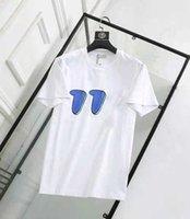 2021 이탈리아 패션 클래식 럭셔리 디자이너 브랜드 새로운 남성 폴로 티셔츠 짧은 소매 자수 편지 망 부티크 T