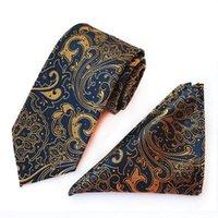 8cm conjunto de corbatas verificación floral kerchief masculino corbata para hombres cuadros punto pañuelo cuello corbata conjunto de corbatas de negocios ASCOT Camisa Accesorios