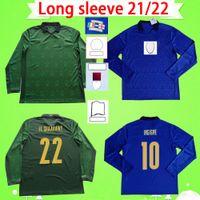 Manga Longa 2021 Itália Jerseys de futebol Final 20 21 22 Chiellini Maglie da Calco Goleiro 2022 Bonucci Belotti Sensi Barella Insigne Futebol Shirts Uniformes