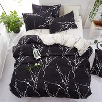 Bedding Sets 1314 Personality Fashion Aloe Cotton Sanded Sheets Active Printing Single And Double Imitation Set Queen