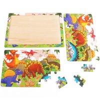 30 قطع بانوراما لغز الاطفال ألعاب خشبية الكرتون الحيوان الخشب مجلس التعلم المبكر الطفل التعليمية للأطفال