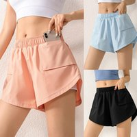 Running Shorts Women 2 In 1 BuScrunch Skirted Quick Dry Fake Skirt Sexy Gym Workout Short Pants Yoga