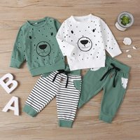 Clothing Sets Kids Baby Boy Girl Long Sleeve Pullover Cartoon T-shirt Tops Pant Trouser 2PCS Outfits Children Clothes Set