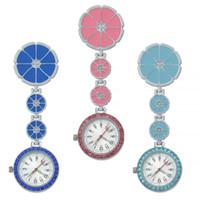 Verpleegster horloge medische opknoping broche arts zak klok kwarts luxe kristal lichtgevende ziekenhuis gift dropshipping