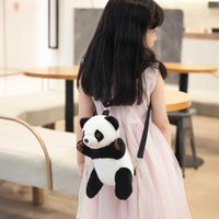 New Sale Cartoon Cute Plush Panda Backpack Soft Animal Toys Doll for Children Kids Girl Lovely School Bag Nice Birthday Gift