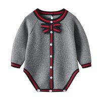 Baby Bodysuits Vêtements Vêtements automne Casual Gris Jumpsuits bébé Neuf-Neuf pour enfant pour enfant Garçons Filles Onesie Winter Enfants Tenues