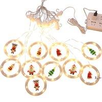 Christmas cartoon pendant curtain lamp LED santa snowman moose snowflake shaped pendants home decoration light FWA9545