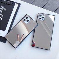 Luxury Square Mirror Protective Cases For iphone 12 MINI 11 Pro X XS MAX XR 8 7 Plus Cell Phone Case Back Cover 200pcs