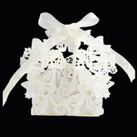 100Pcs Butterfly Laser Cut Wedding Bridal Favors Gifts Box H...