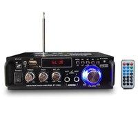 300W + 300 W 12/220 V 2 Kanal HIFI Ses Stereo Güç Bluetooth FM Radyo Araba Ev Sineması Amplifikatörler Müzik Çalar