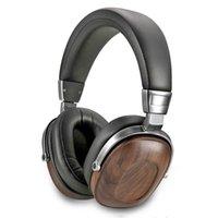 & MP4 Players B8 Headphone HIFI Stereo Dynamic Wooden Earphone Over Ear DJ Monitoring Earphones Studio Audio Noise Cancelling Headset