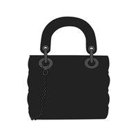 أعلى 3a ماركة 17 سنتيمتر و 20 سنتيمتر مصمم الفاخرة حزام مربع سيدة الكتف حقيبة جلدية houndstooth النسيج crossbodybbagnag حقيبة يد جودة عالية حقيبة يد