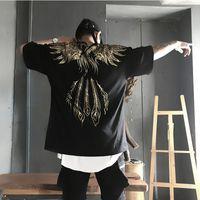 Phoenix Gold Phoenix Stampa Hip Hop Vintage Topstees Casual da uomo T-shirt da uomo Streetwear Couple Indossare Pullover Dropshipping Dropshipping T shirt