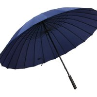 Guarda-chuvas Ampliar guarda-chuva 24 ósseas adultas À prova de vento manual de golfe longo punho empresarial multicolor