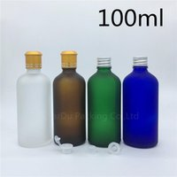 Travel Bottle 100ml Green blue amber transparent Frosted Gla...