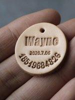 MUXIAQIU рекомендует бренду питомцев Служба для надписи Cat Dog Golog Tag Tag Кожаная табличка Антитература