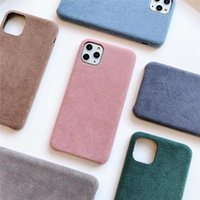 Phone Cases Solid Fabric Soft Tpu Case Winter Feel Good Plush for IPhone 12 11 Pro Max Xr XsMax 7 8 plus