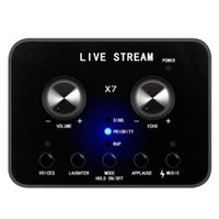 Sound Cards Voice Changer USB Card For PC Laptop Live Broadcast Audio Interface External Studio Record