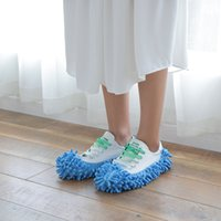 House slippers mop shoe cover multifunctional solid dust collector house bathroom floor shoe cover cleaning chenille slippers 306 R2