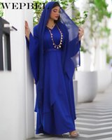 Muslim Spring And Autumn Fashion Ruffle Sleeve V-neck High Waist Robe Arab Women's Casual Solid Color Dress Ethnic Clothing