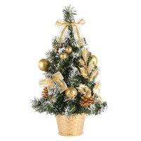Рождественские украшения дерево с сосновым луком подарочные звезды часы шар маленькие украшения Добавить фестиваль атмосфера дома украшения дома