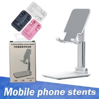 Foldable Phone Holder Mobile Adjustable Flexible Desk Stand Compatiable For Android Smartphone iPhone 11 XR XS Pro Max with Retail Box