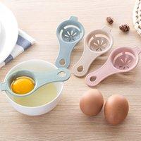 Hueva Herramientas 3 colores Separador de paja blanco Separador Yolk Filtro Cocina Cocina