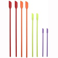 4 Pcs set Baking & Pastry Tools Flexible Silicone Bottle Scraper Thin Last Drop Spatula Makeup Brush Beauty Tool Kitchen Accessories 906 B3