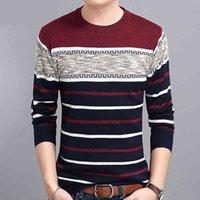 Covrlge Mens 스웨터 가을 둥근 칼라 풀오버 남자 브랜드 의류 니트 셔츠 슬리밍 패션 폴로 MZM050