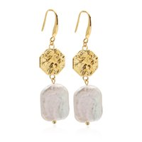 VAROLE Irregular Natural Pearl Dangle Chandelier Earrings For Women Gold Color Earings Korean Fashion Jewelry Pendientes Engagement